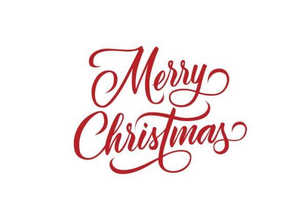 feliz navidad vector de letras
