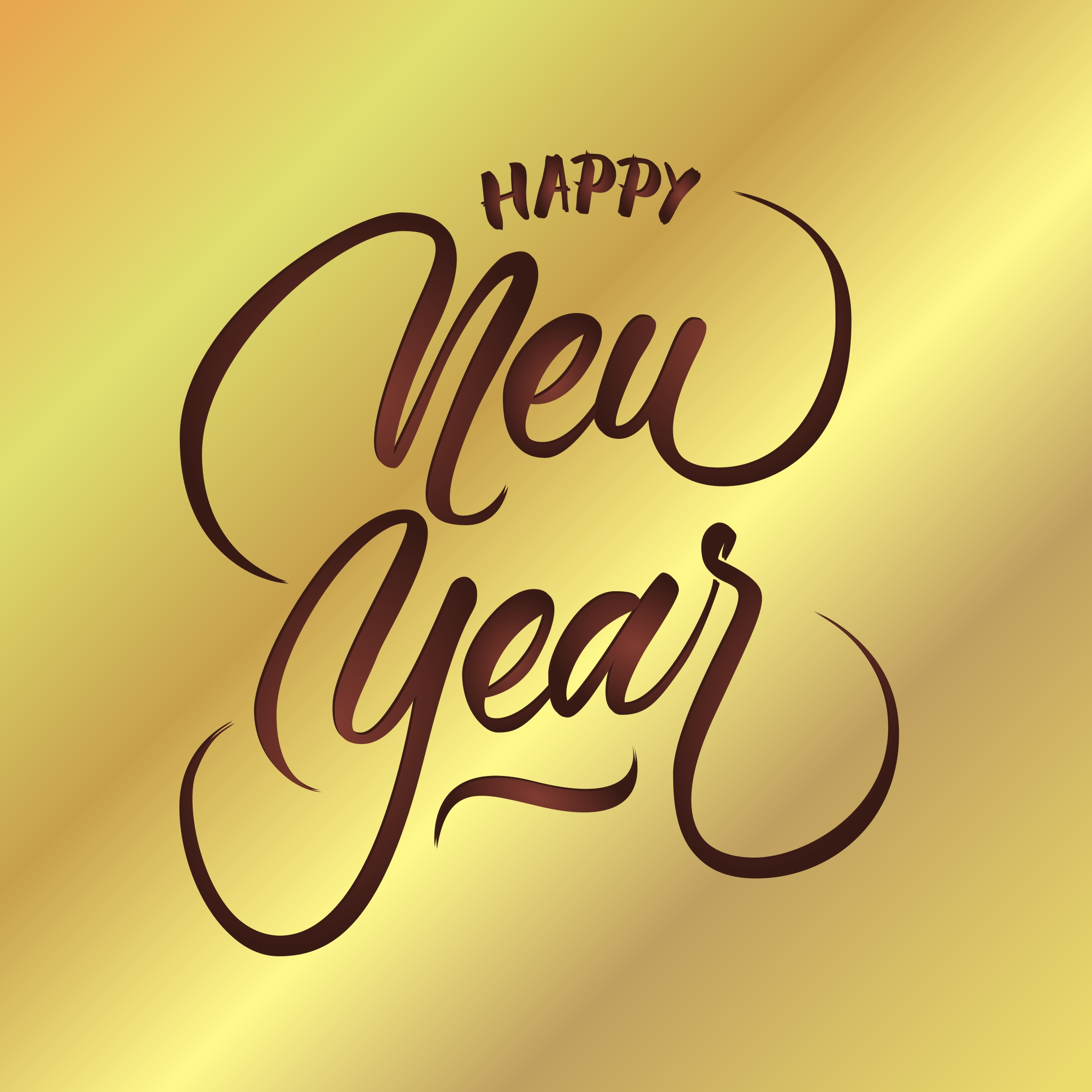 Happy New Year Vector Hand Lettering Download Free