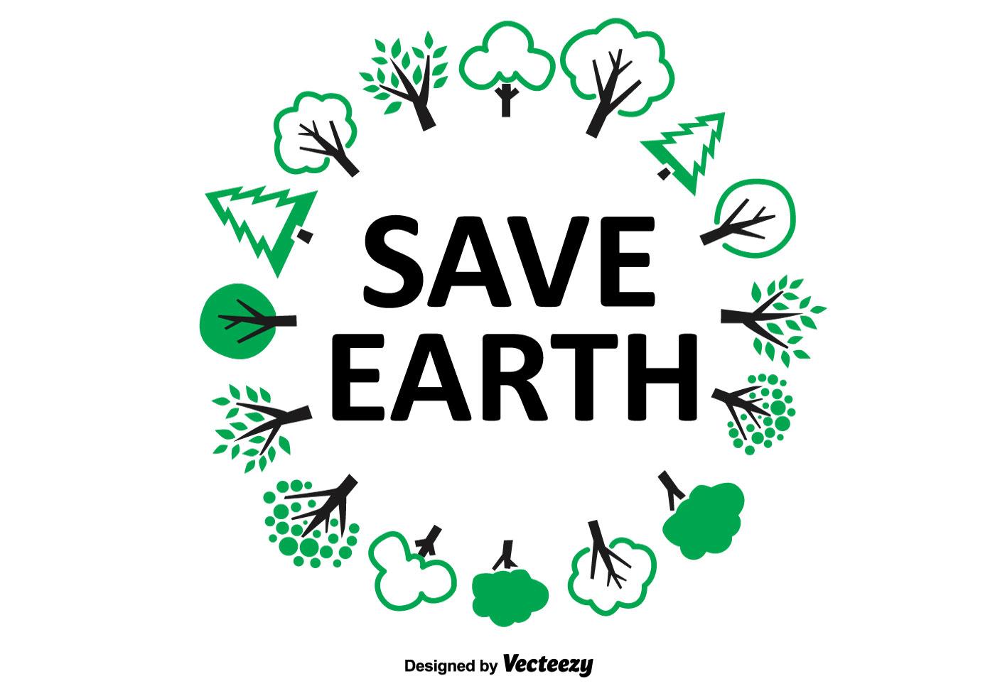 Save Earth Tree Wreath