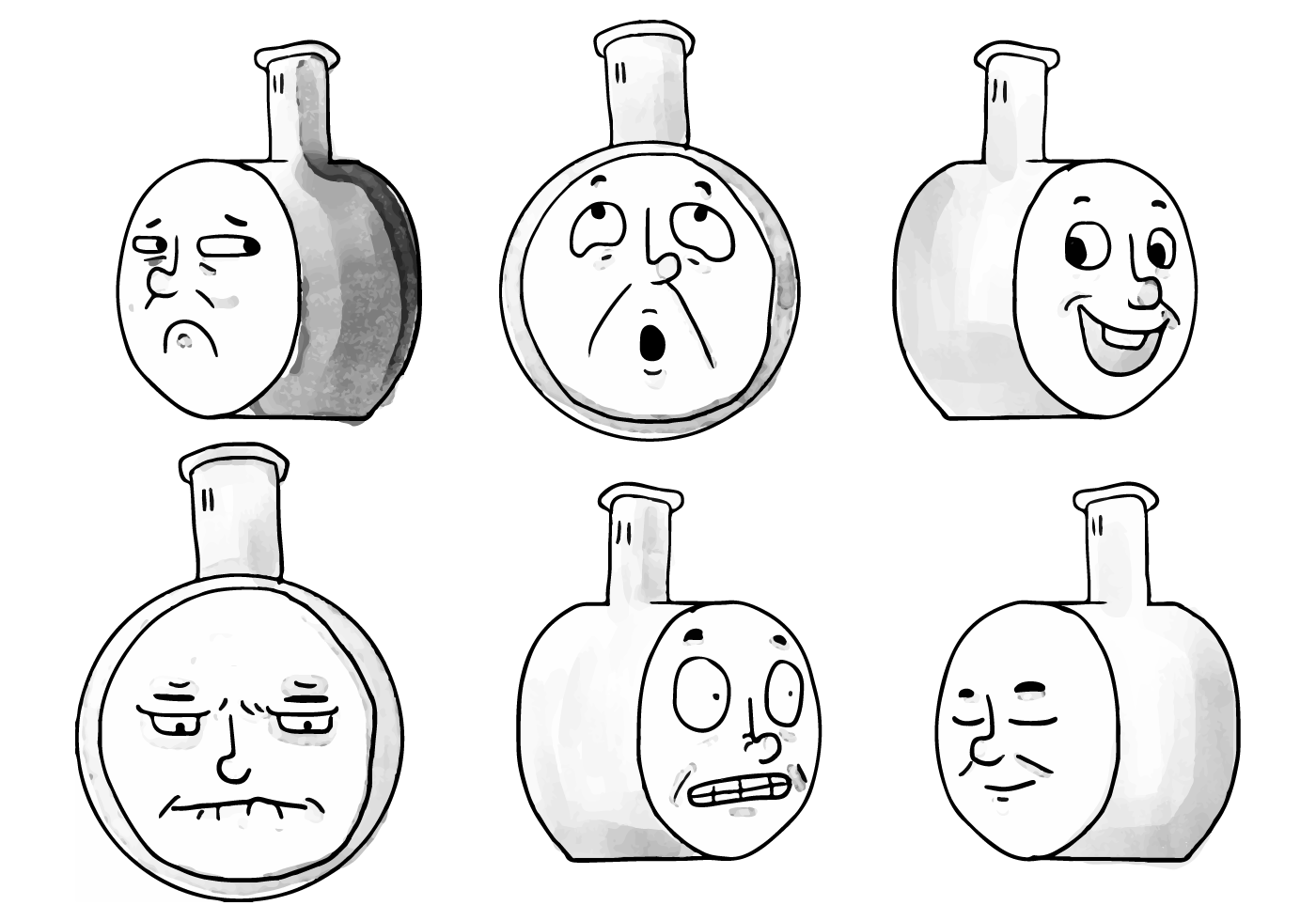 Thomas The Train Watercolor Faces