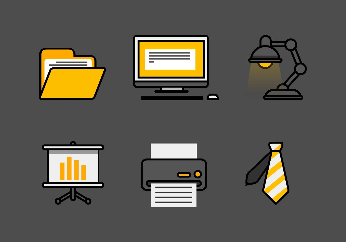 Vector Office Icon Set Download Free Vector Art Stock