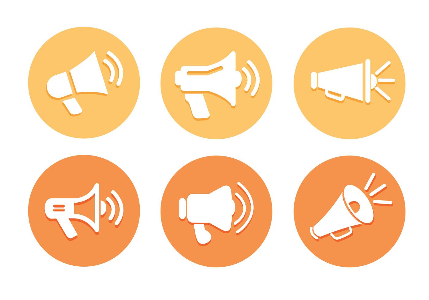 Vecteurs icne mgaphone Tlchargez de l39art des