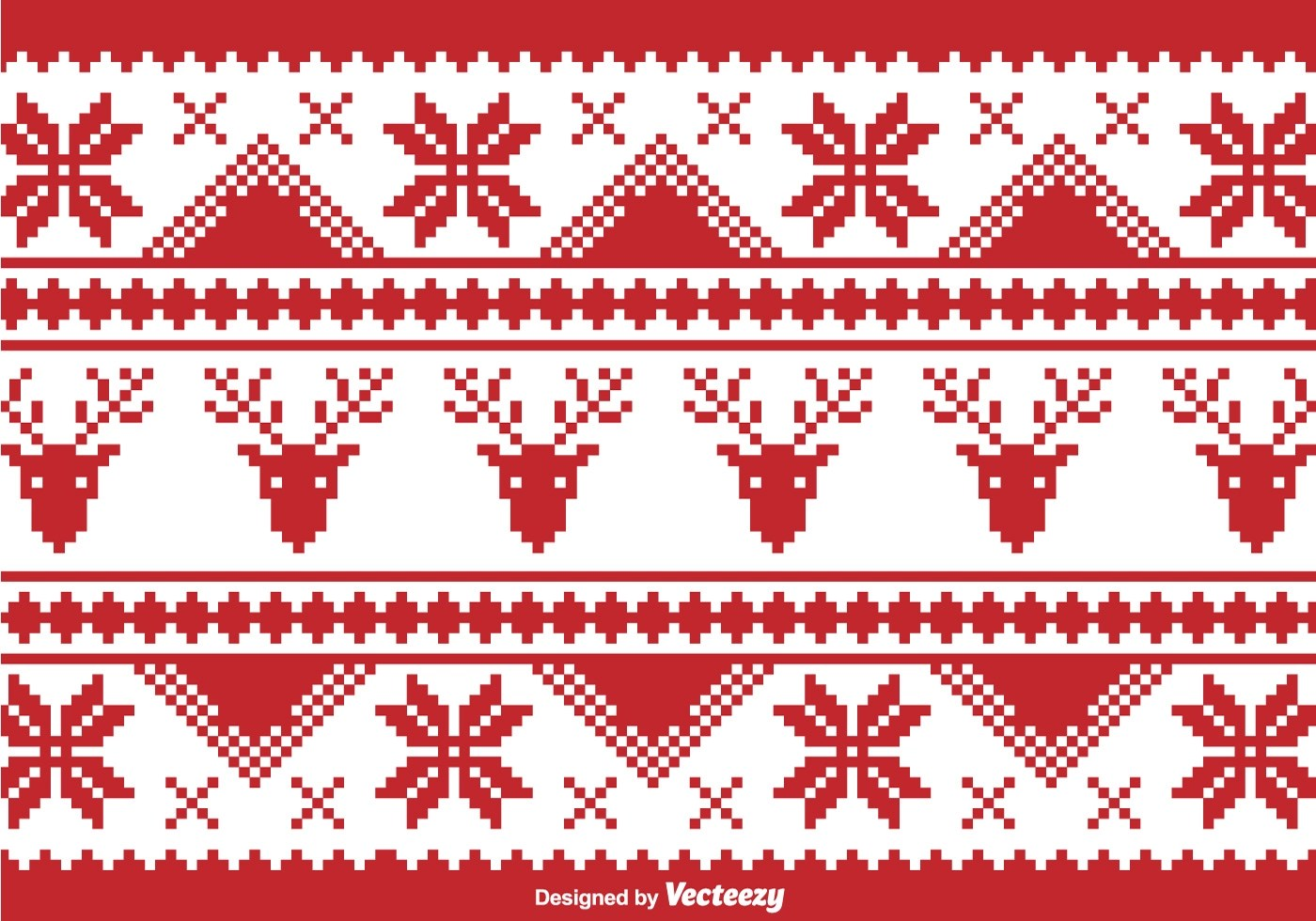 Christmas Traditional Pixel Border Download Free Vector