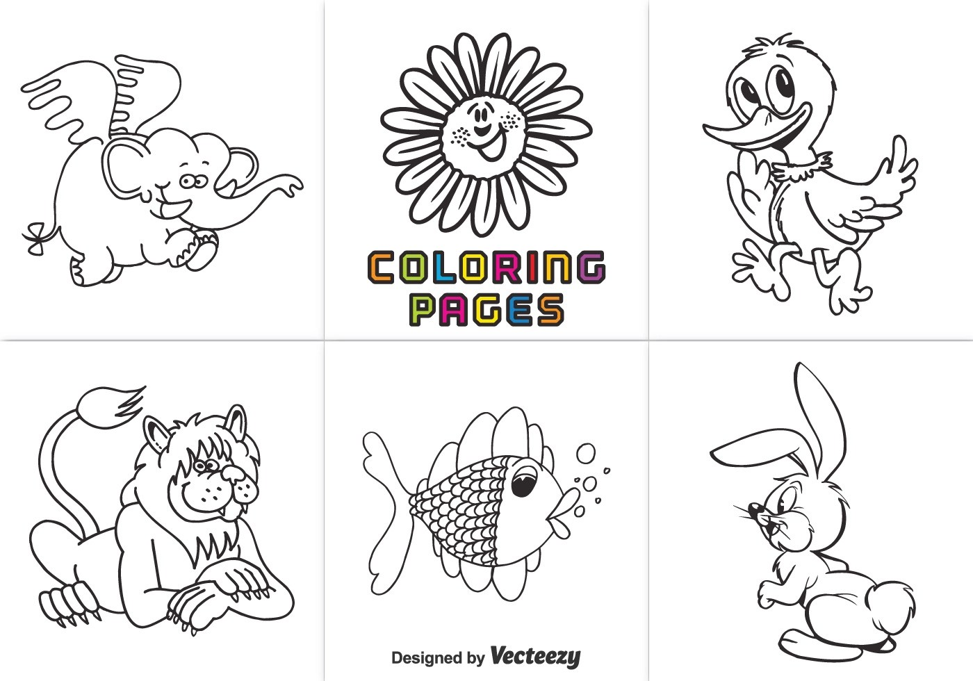 Free Animal Coloring Pages Vector Download Free Vectors Clipart Graphics Vector Art