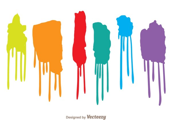 Colorful Paint Drip Set - Free Vector Art Stock Graphics &