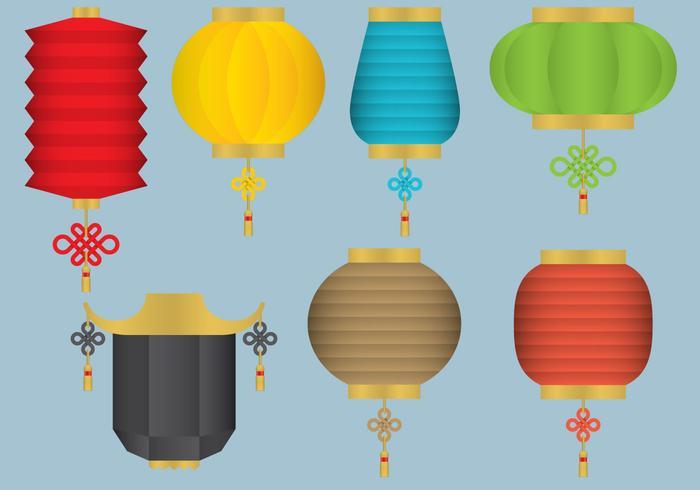 oriental hanging light vectors
