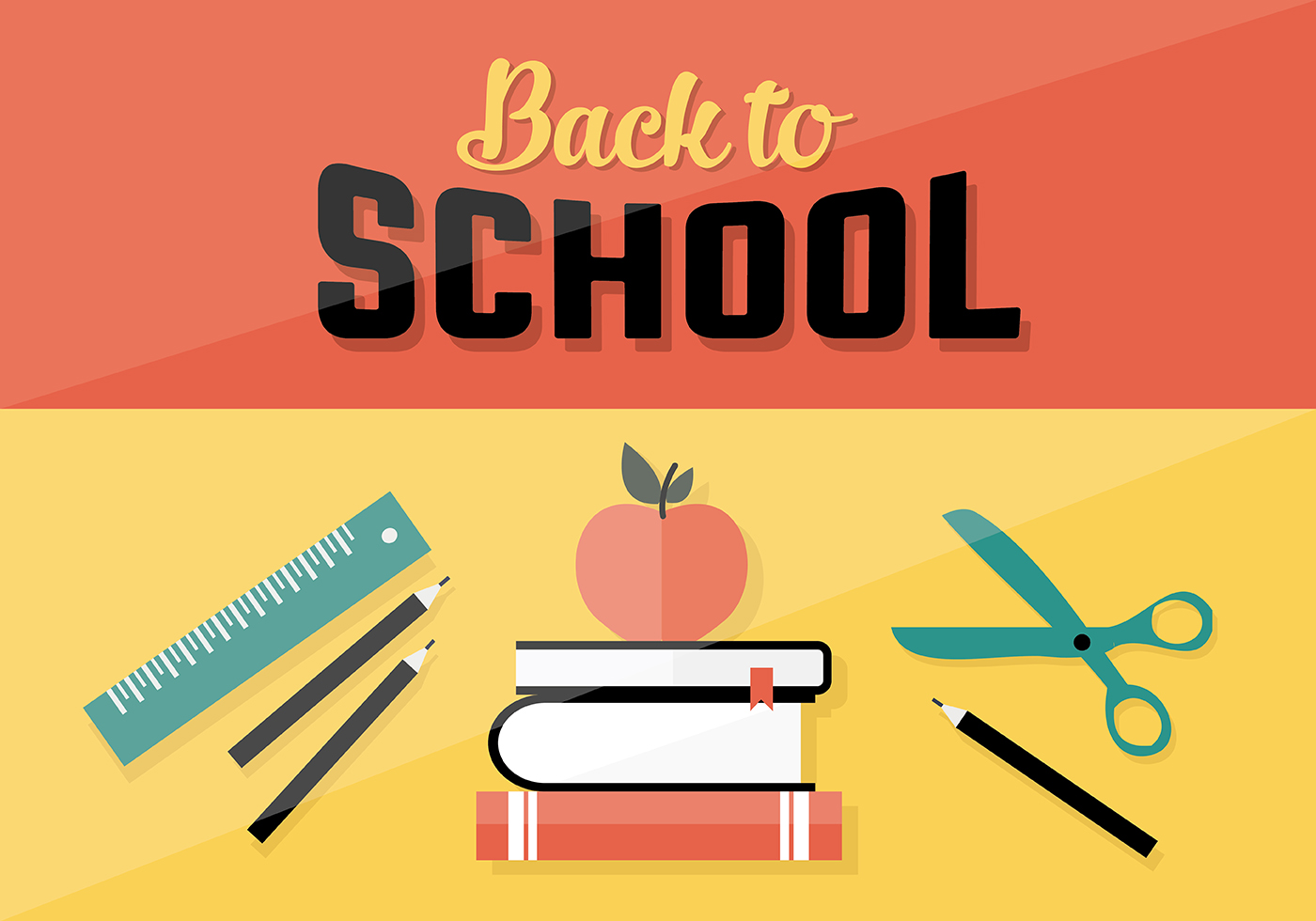 Back To School Vector Background Download Free Vector