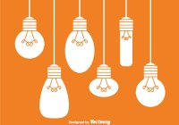 Hanging White Light Bulbs - Download Free Vector Art ...