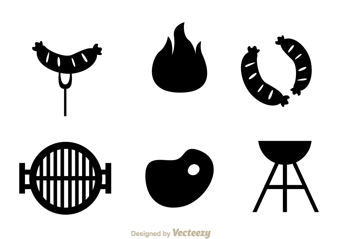 Beef Grill Icons
