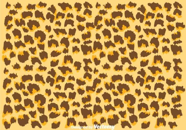 Natural Color Leopard Pattern - Free Vector Art