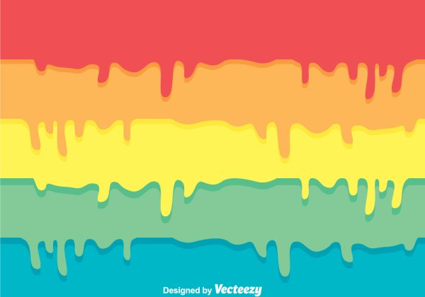 Colorful Paint Drip Background - Free Vector Art Stock Graphics &