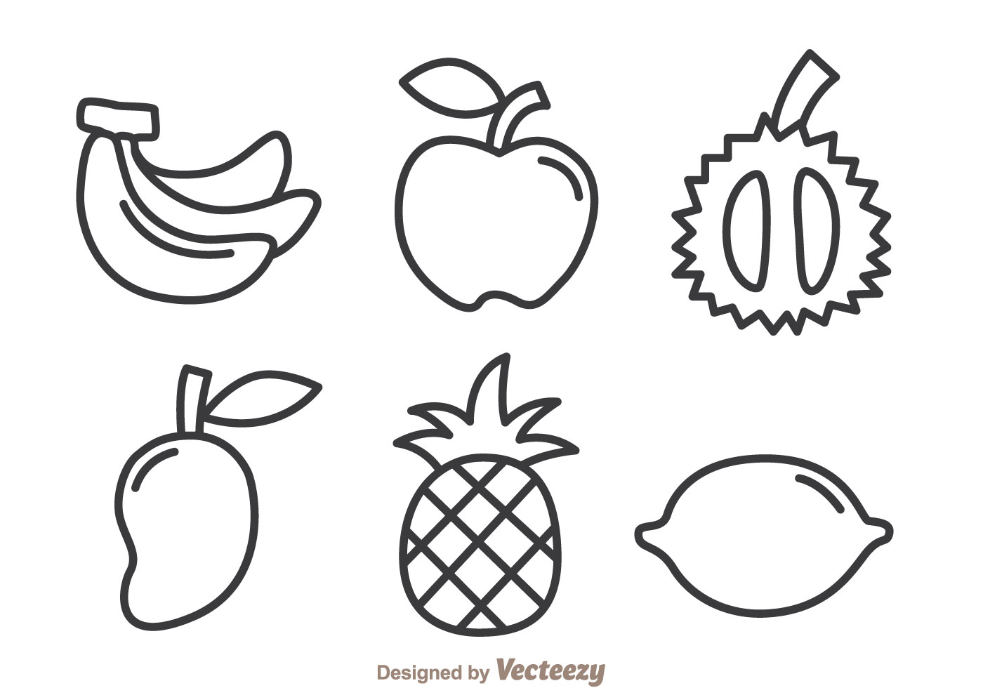 Fruits Outline Icons
