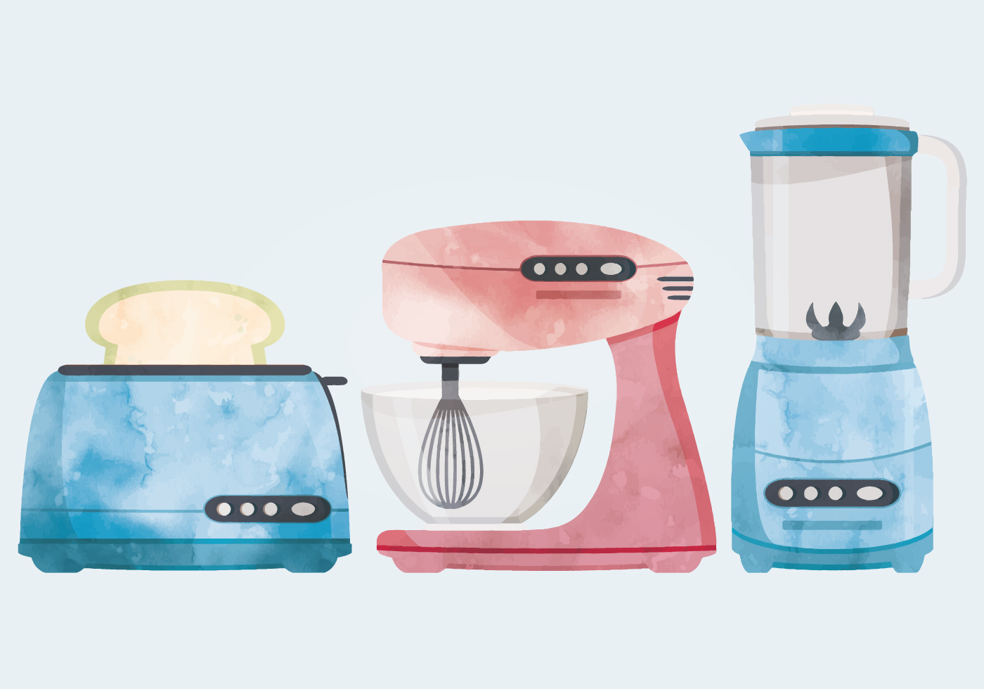 Retro Kitchenware Vector Illustration Download Free