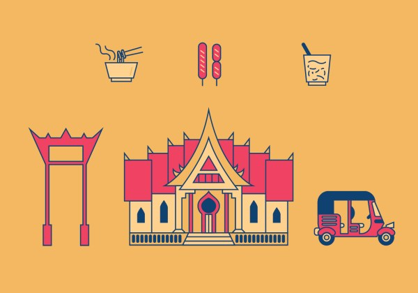 Bangkok Vector Illustrations - Free Art