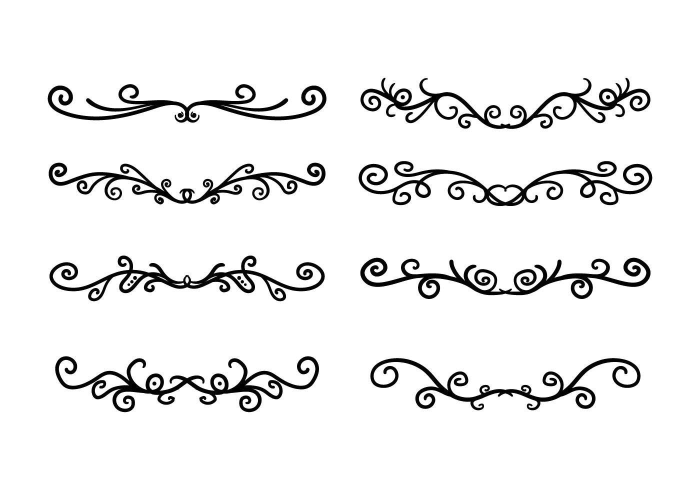 Decorative Scroll Free Vector Art