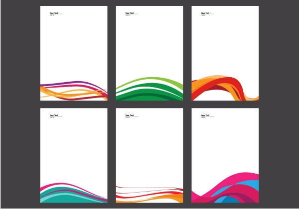 Letterhead With Line Design Vector - Free
