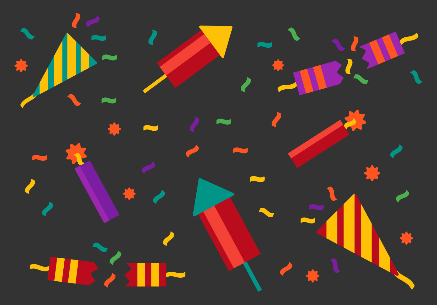 Free Party Popper Vector Download Free Vector Art Stock