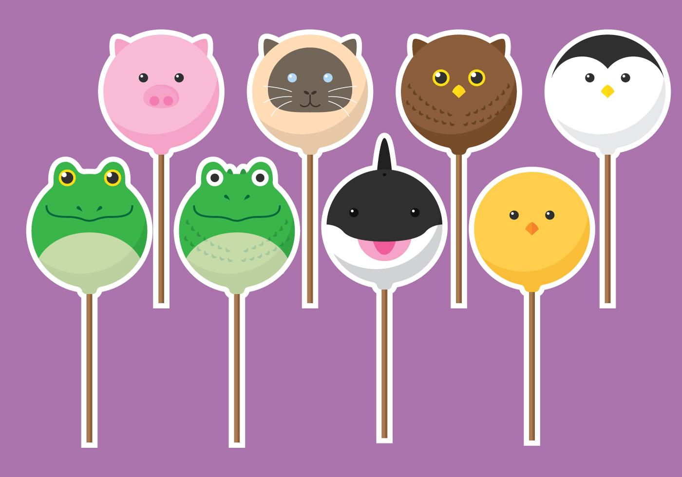 Animal Cake Pops Download Free Vector Art Stock