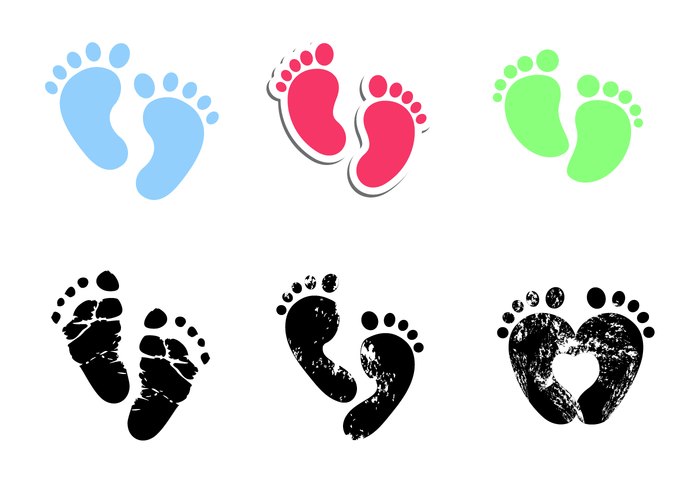 baby footprints vector download