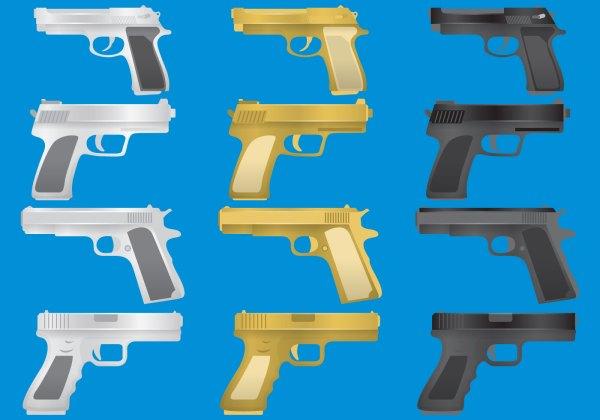 Gun Glock Vectors - Free Vector Art Stock