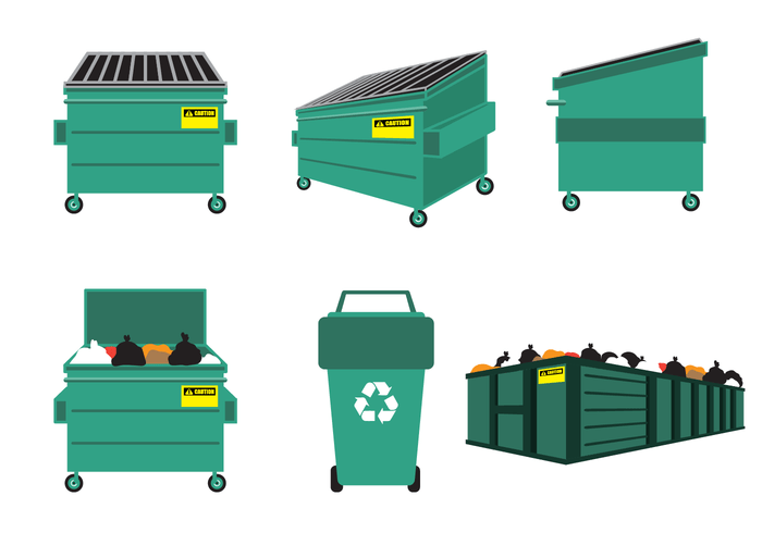 free dumpster vector download