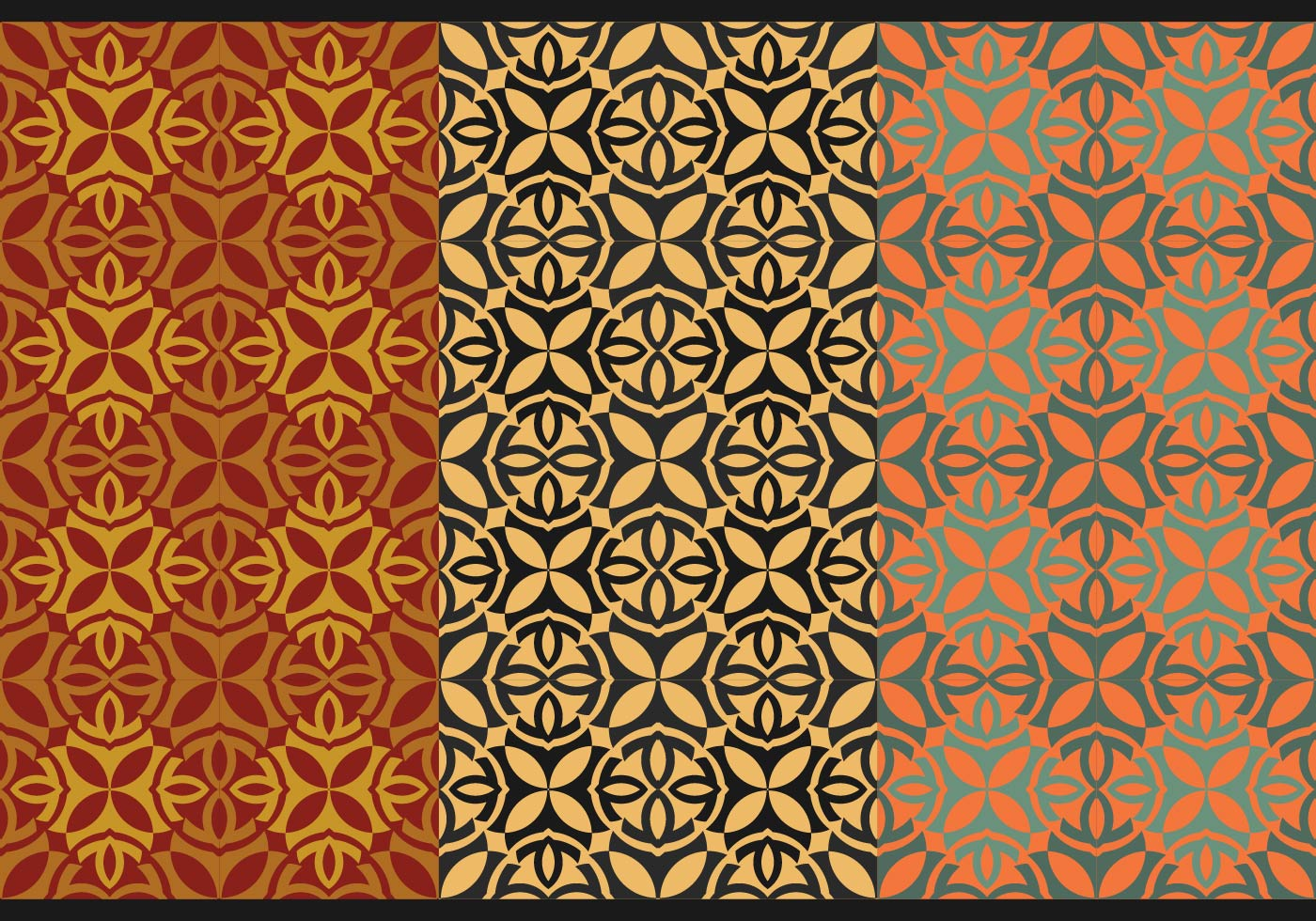 Free Thai Seamless Vector Patterns. Vol. I - Download Free Vector Art. Stock Graphics & Images