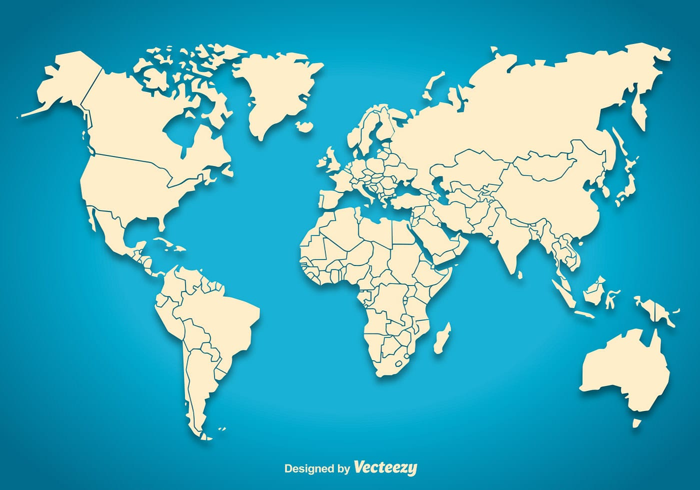 World map silhouette - Download Free Vectors, Clipart Graphics & Vector Art