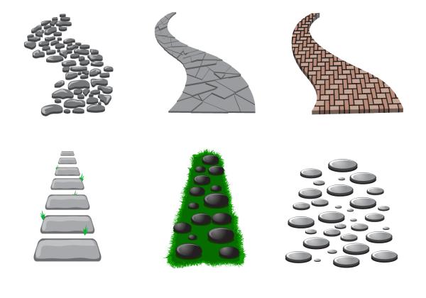 stone path vector - free
