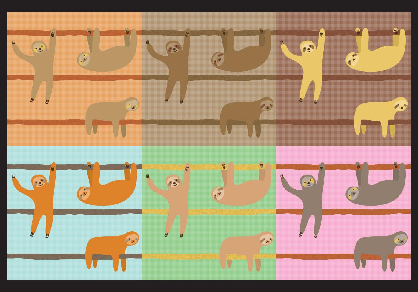 Cute Cartoon Sloth Wallpaper Sloth Patterns Download Free Vectors Clipart Graphics