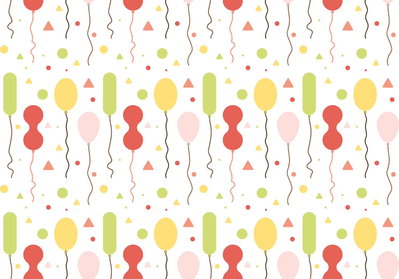 Little Cute Baby Girl Wallpaper Free Balloons Pattern Vector 1 Download Free Vectors