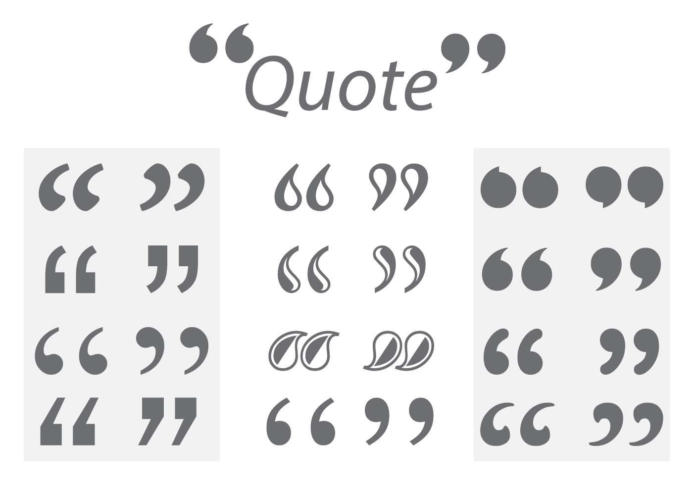 Quotation Mark Vectors