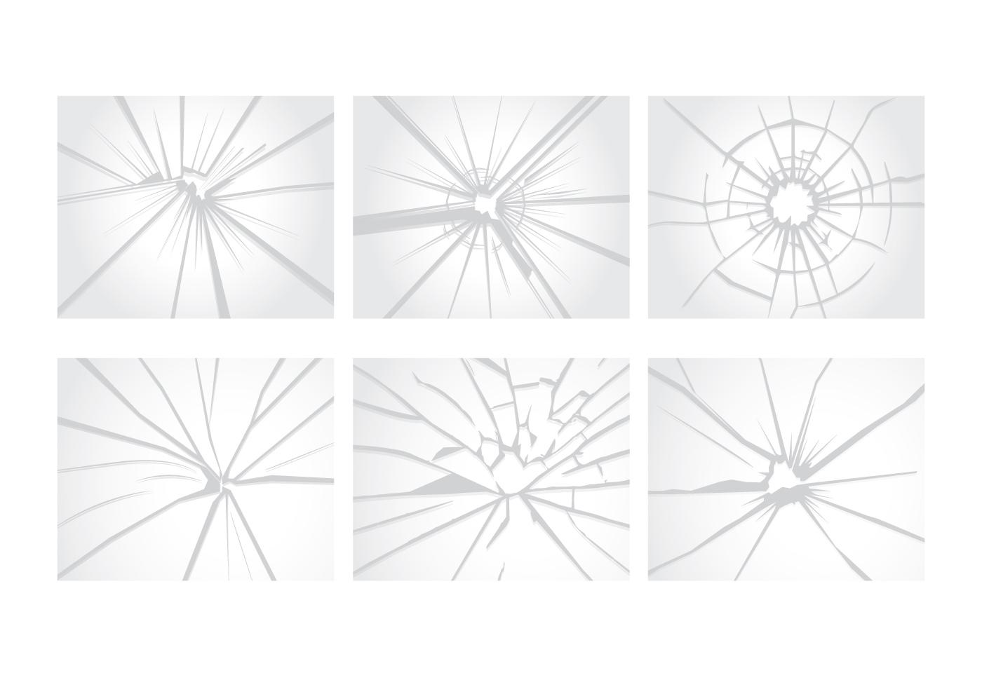 Cracked Glass Vectors