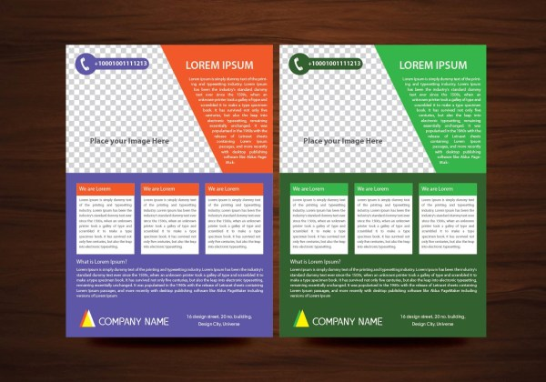 Vector Brochure Flyer Design Layout Template In A4 Size - Free Art Stock