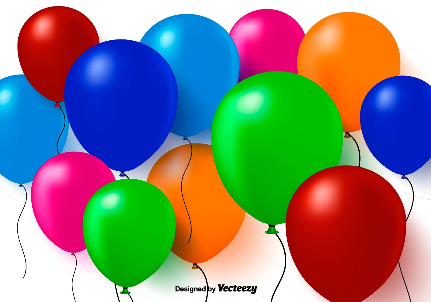 3d balloon free vector
