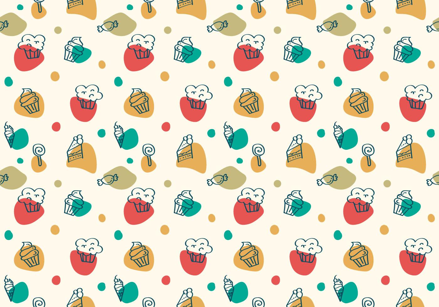 Cute Dessert Wallpaper Free Cake And Dessert Vector Patterns Download Free