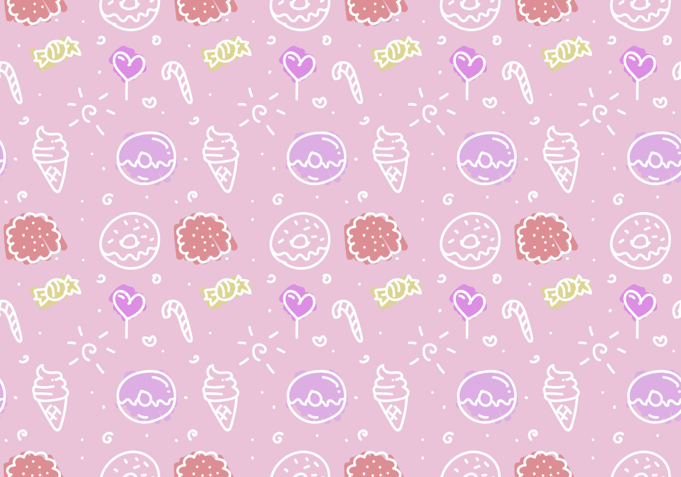 Cupcake Iphone Wallpaper Free Pink Cake Vector Pattern Download Free Vectors