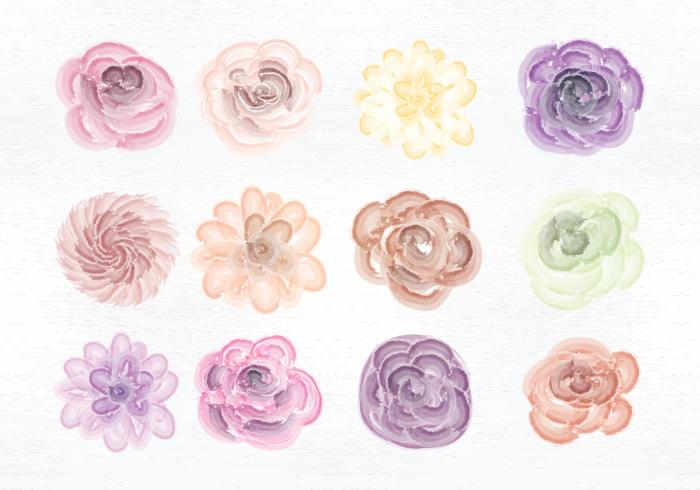 watercolor flower free vector