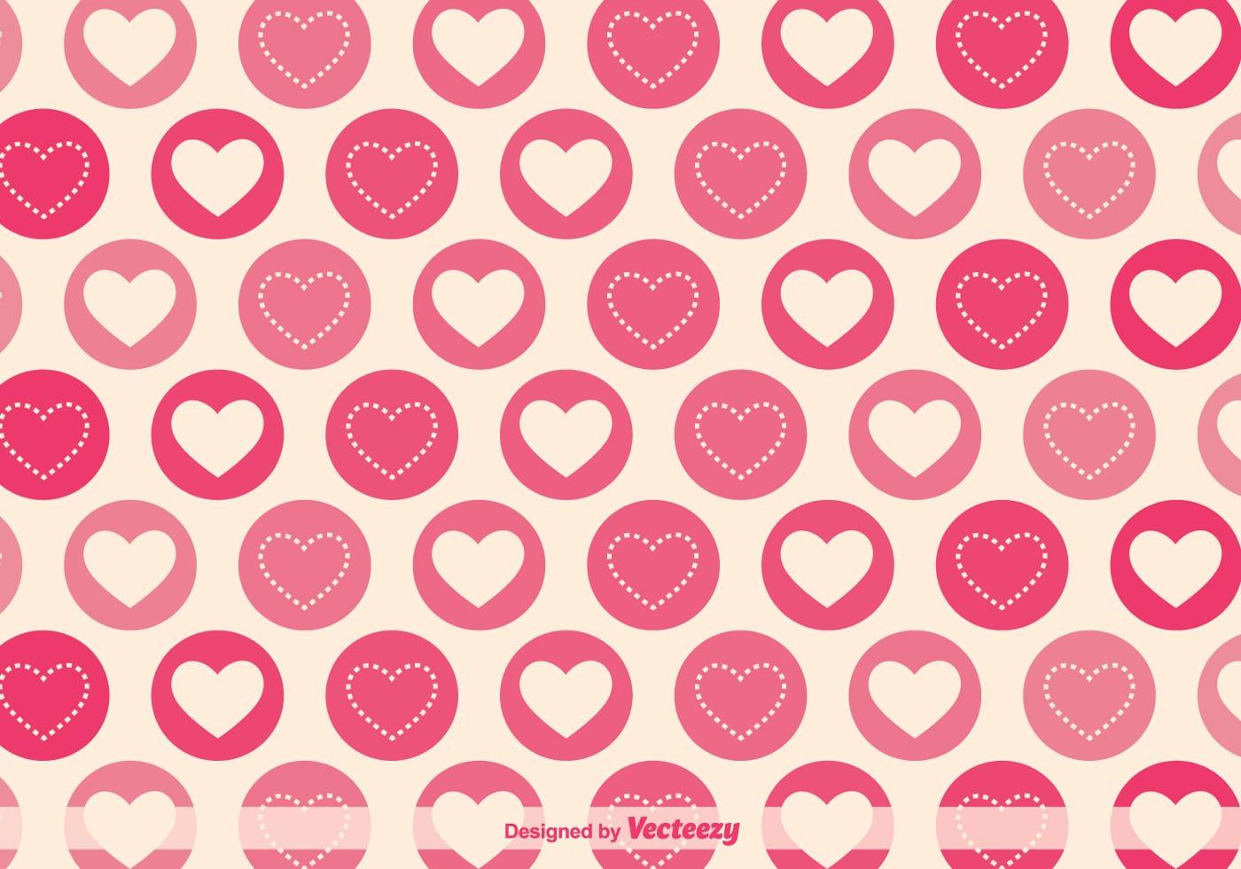Geometric Hearts Vector Pattern Download Free Vector Art