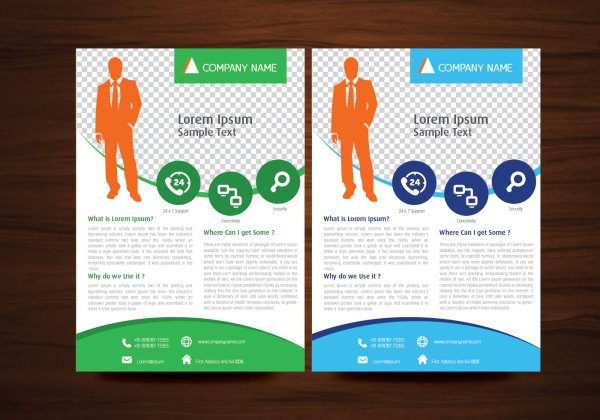 Business Vector Flyer Design Layout Template In A4 Size - Free Art Stock