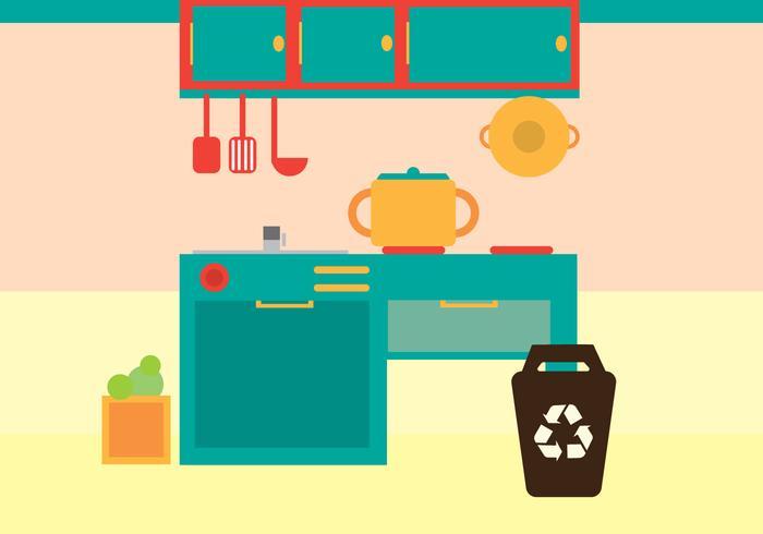 Kitchen Vector Illustration Art Stock
