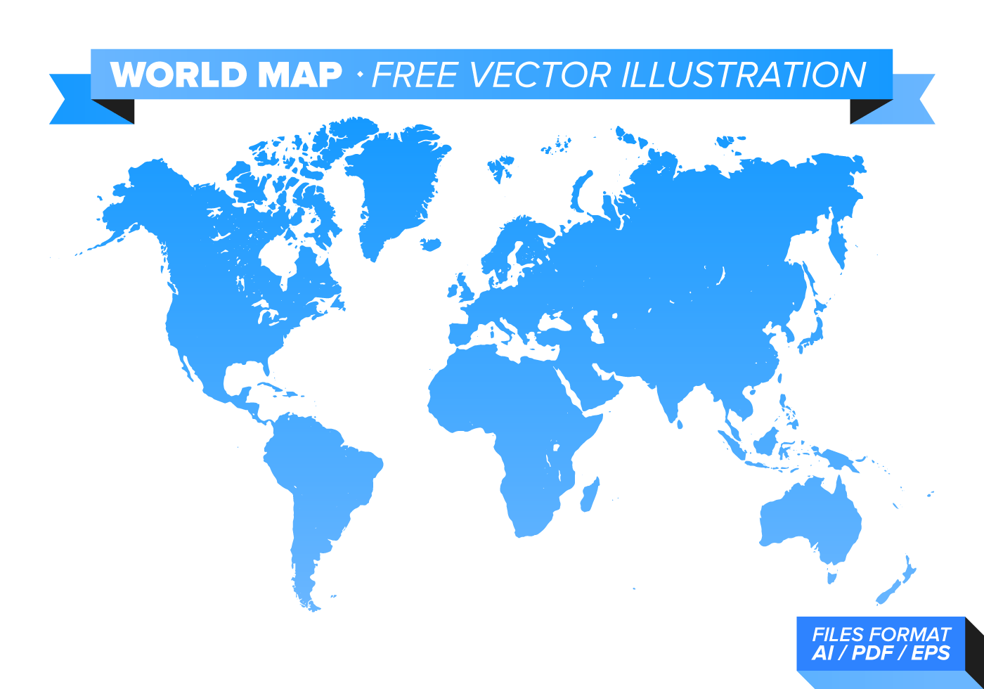 World Map Free Vector Illustration