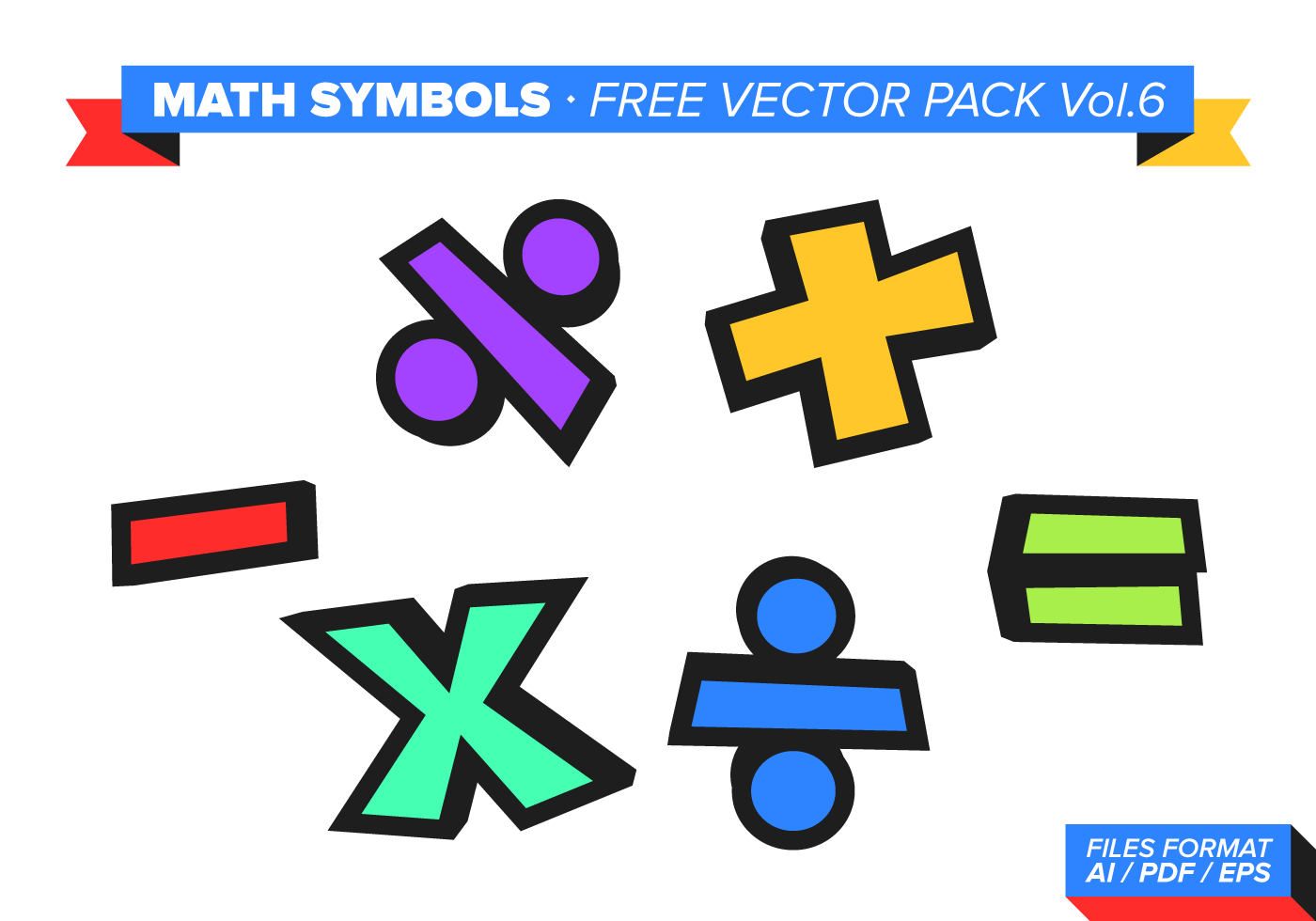 Math Symbols Free Vector Pack Vol 6