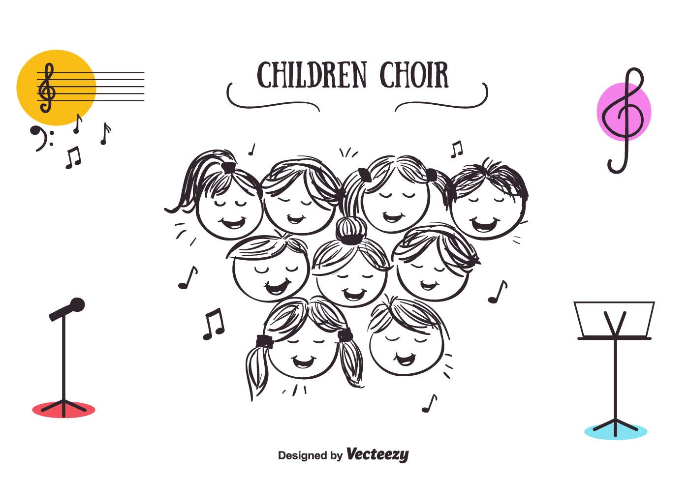 Children Choir Vector