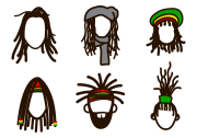 dreads vector - free