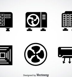 hvac system black icons vector [ 1400 x 980 Pixel ]