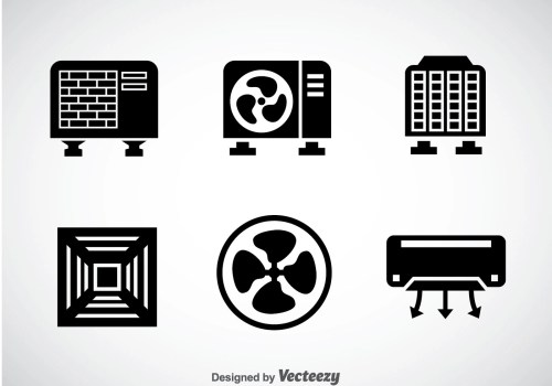 small resolution of hvac system black icons vector