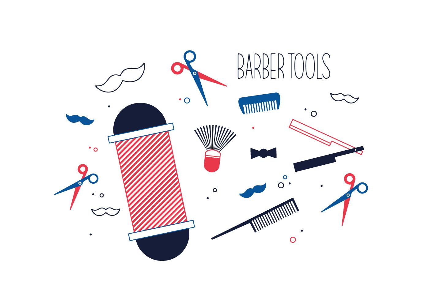 Free Barber Tools Vector  Download Free Vector Art Stock