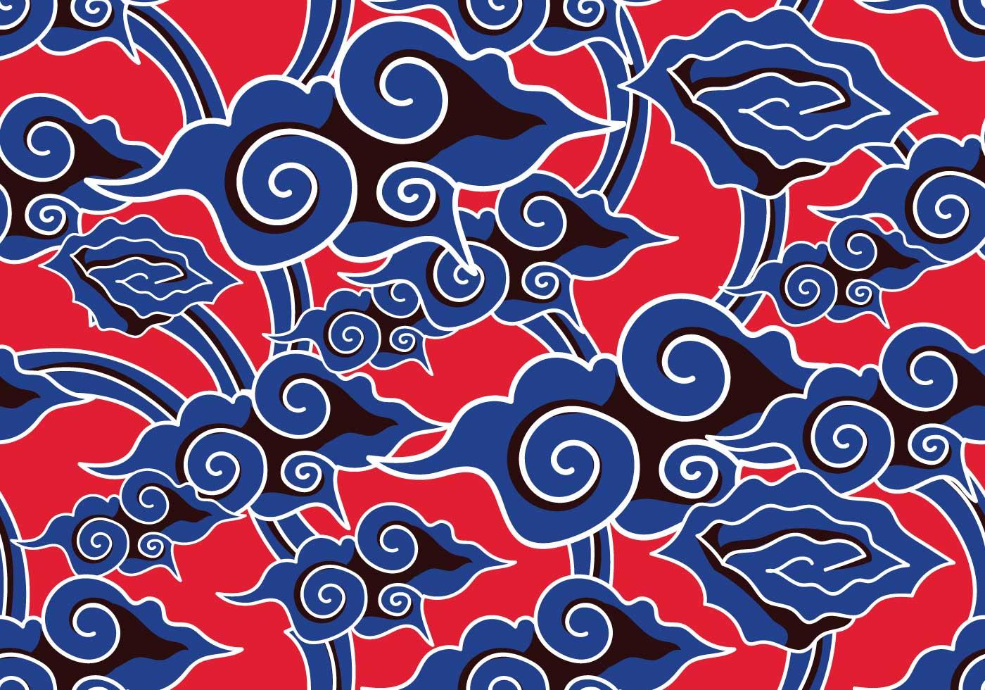 Batik Background Vector  Download Free Vector Art Stock