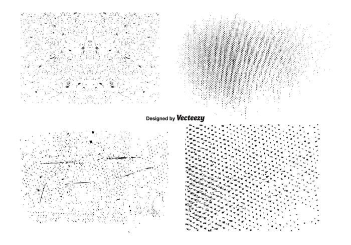 vector grunge texture set