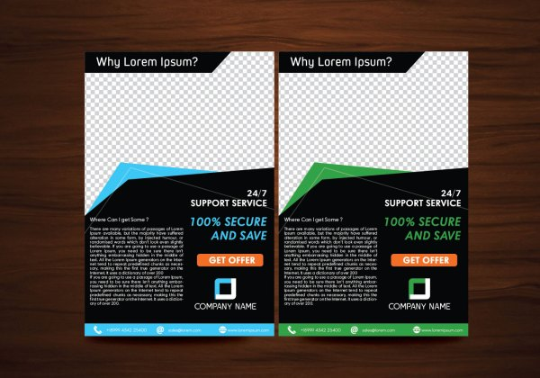 Vector Flyer Design Layout Template - Free